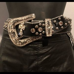 Accessories - Bling leather Cross belt